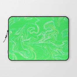 Neon green abstract Laptop Sleeve