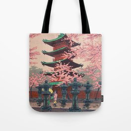Eight Views of Tokyo - Toshogu Shrine Kasamatsu Shiro Japanese Woodblock Painting Asian Beautiful Tote Bag