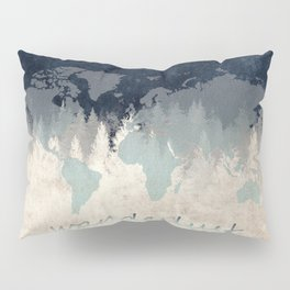 world map wanderlust forest 2 Pillow Sham
