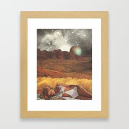 the life and death of stars - collab with sammy slabbinck Framed Art Print