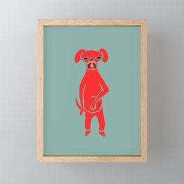 fat dog Framed Mini Art Print