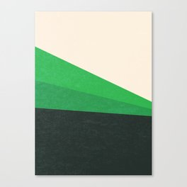 Stripe V Green Fields Canvas Print
