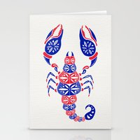 patriotic Stationery Cards featuring Patriotic Scorpion by Cat Coquillette