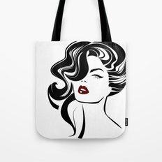 Beautiful woman face Tote Bag