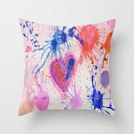 sara carnival Throw Pillow