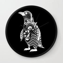 kuro penguin Wall Clock