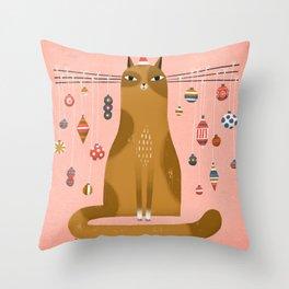 WHISKER TREE Throw Pillow