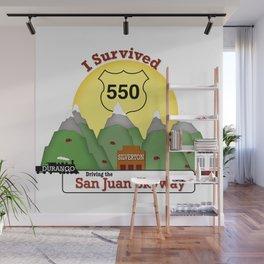I Survived Hwy 550 Durango, Silverton & Ouray Colorado Wall Mural