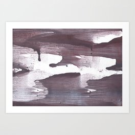 Gray claret abstract Art Print