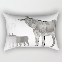 El Burro Rectangular Pillow