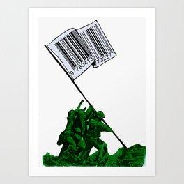 Raising The Flag Of Commerce Art Print