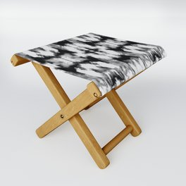 Tie Dye Blacks Folding Stool