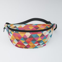 Vintage Summer Color Palette - Hipster Geometric Triangle Pattern Fanny Pack