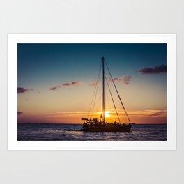 Sunset in Hawaii 0010 Art Print