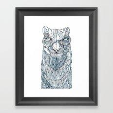 snow leopard Framed Art Print