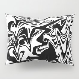 snow and shadow, abstract Pillow Sham