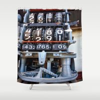 numbers Shower Curtains featuring Numbers by Kent Moody