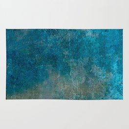 Blue Gray grunge | Grungy | Blue coral | Grunge Decor Rug