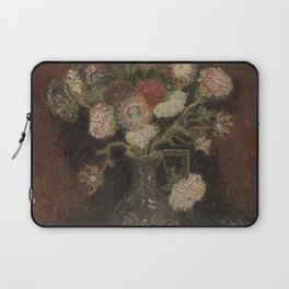 Vase with Chinese Asters and Gladioli Laptop Sleeve