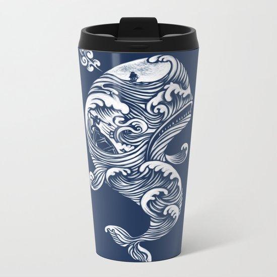 The White Whale  Metal Travel Mug