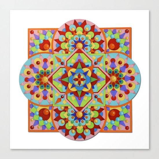 Chartres Mandala Canvas Print
