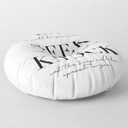 Ask Seek Knock Floor Pillow