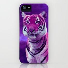 Purple Tiger iPhone Case