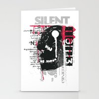 silent Stationery Cards featuring Silent by Tshirt-Factory