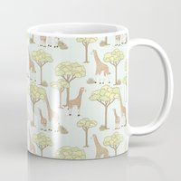 giraffes Mugs featuring Giraffes by Emma Margaret Illustration