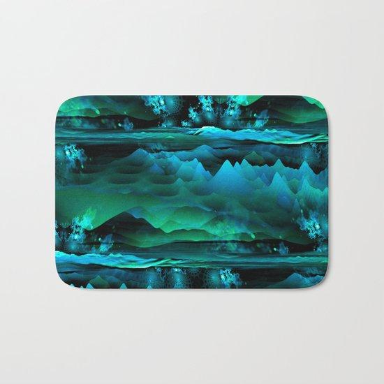 Residual Worlds (green) Bath Mat