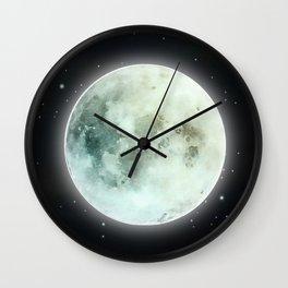 Full Moon: Earth Element Wall Clock