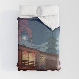 Kyoto at night Comforters