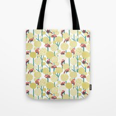 Red Panda Forest - Yellow Tote Bag