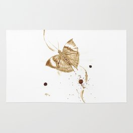 Coffee butterfly Rug