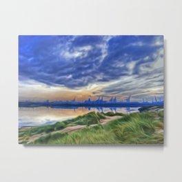 Marina Sunrise (Digital Art) Metal Print
