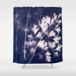 Silhouette of Parsley and Fennel Shower Curtain