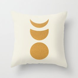 Lunar Phase - Gold Throw Pillow