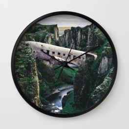 The Plane Crash Bridge-Sólheimasandur Plane Crash Wall Clock