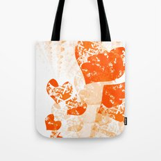 Heart - Orange Tote Bag