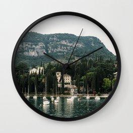Boats at Lake Garda | Travel photography Italy, Lago di Garda | Fine art photo print | Wall Clock