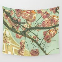 blossom Wall Tapestries featuring Blossom by AlejandraClick