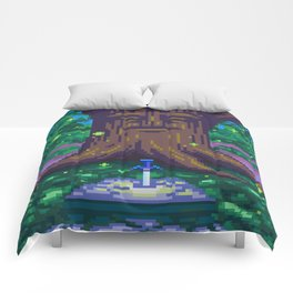 Master Sword Beneath the Great Deku Tree Comforters