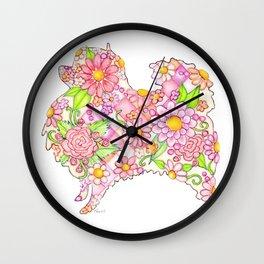 Pink Pomeranian Wall Clock