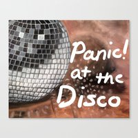 panic at the disco Canvas Prints featuring Panic! At The Disco by Stephanie Janeczek