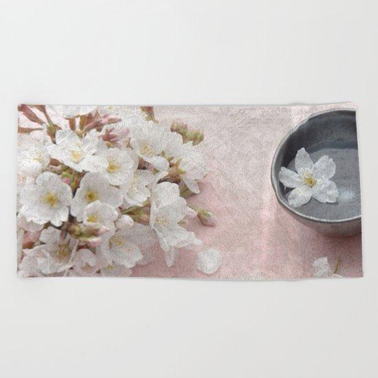 Cherry Blossom #7 Beach Towel