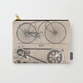 patent Bicycle 1890 Rice Carry-All Pouch