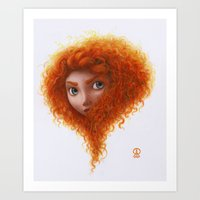 merida Art Prints featuring Merida by Ronald Restituyo