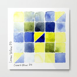 Color Chart - Lemon Yellow (DS) and Cobalt Blue (DS) Metal Print