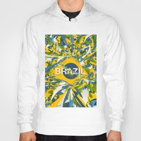 brazil Hoodies featuring Abstract Brazil by Danny Ivan