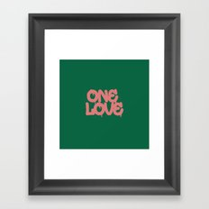 ONELOVE Framed Art Print